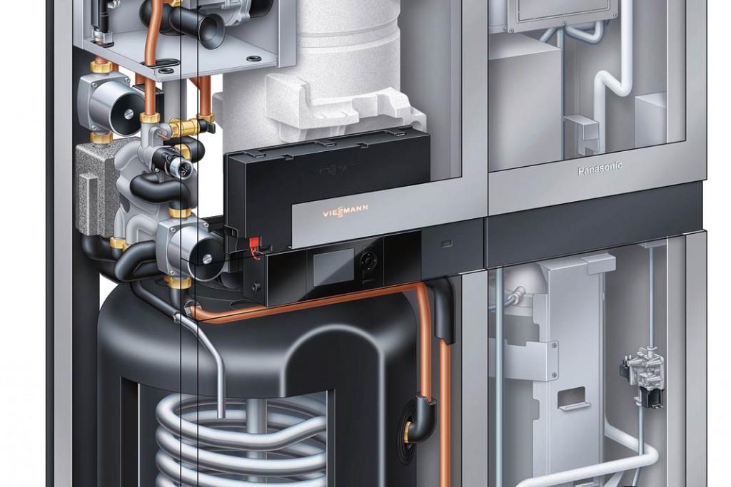 """""""Vitavalor 300-P"""" mit integriertem Gas-Brennwertkessel und Speicher ist eines der ersten serienmäßig gefertigten Brennstoffzellen-Heizgeräte auf dem deutschen Markt. Es produziert im Tagesverlauf bis zu 15 kWh Strom. Foto: Viessmann"""