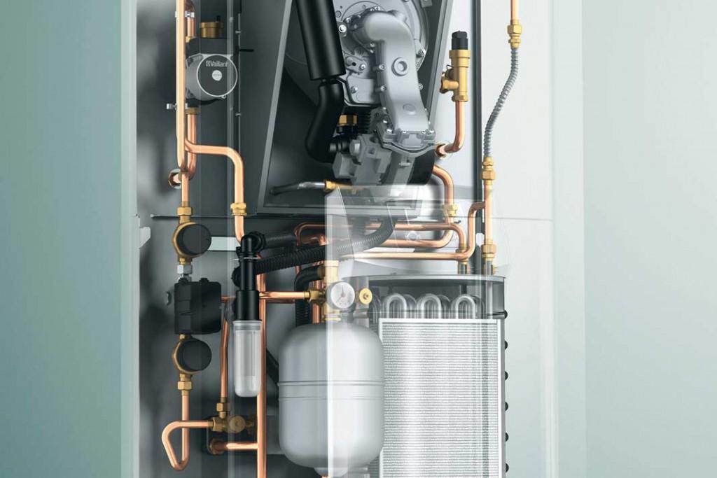 Die Zeolith-Gaswärmepumpe ist ein in sich geschlossenes System, das wie eine herkömmliche bodenstehende Heizung aufgestellt und installiert wird.