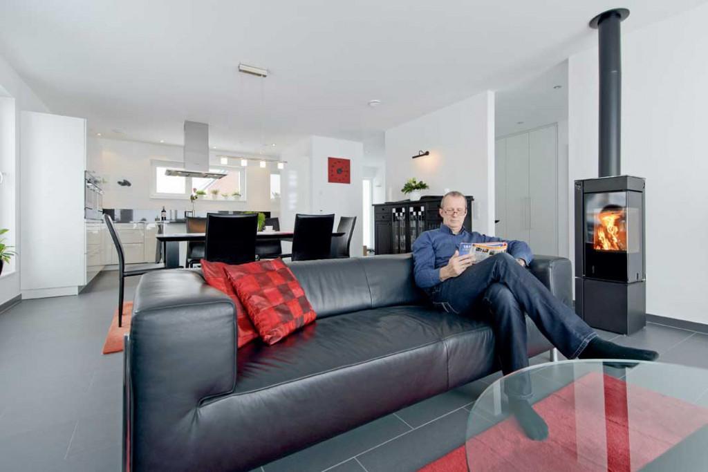 Die Energieplus-Haus-Systemtechnik sorgt für angenehme Raumwärme und hohen Wohnkomfort. Foto: Buderus
