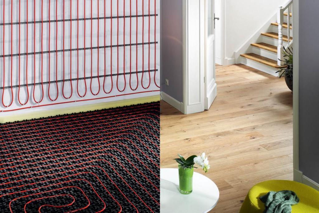 Ist die vorhandene Bodenfläche zu gering, um die benötigte Heizlast zu erreichen, hilft eine Kombination von Fußbodenheizung und Wandsystem. Foto: Viega